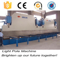 Street metal utility electric wire lamp-post pole machine