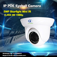 Video surveillance system 2mp starlight mini dome security camera night vision 100 meter ir distance cctv camera