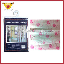 Red Rose Factory Pattern Satin Bathroom Readymade Curtain