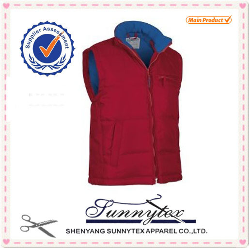 canvas custom design winter waistcoat man padding gilet