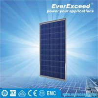 EverExceed 100W Polycrystalline Solar Panel with tempered glass for grid-on/off solar system
