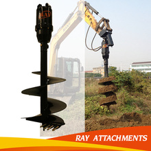 hydraulic rotator ground auger for excavator
