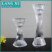 LX-A050 guangzhou tower design tall crystal different types of candle holders