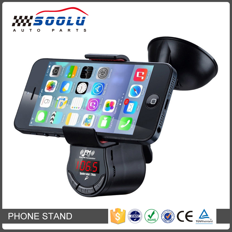 Universal Car Kit Hands-free Phone Holder With FM Transmitter Charger