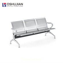 Medical center airport stainless steel three seater