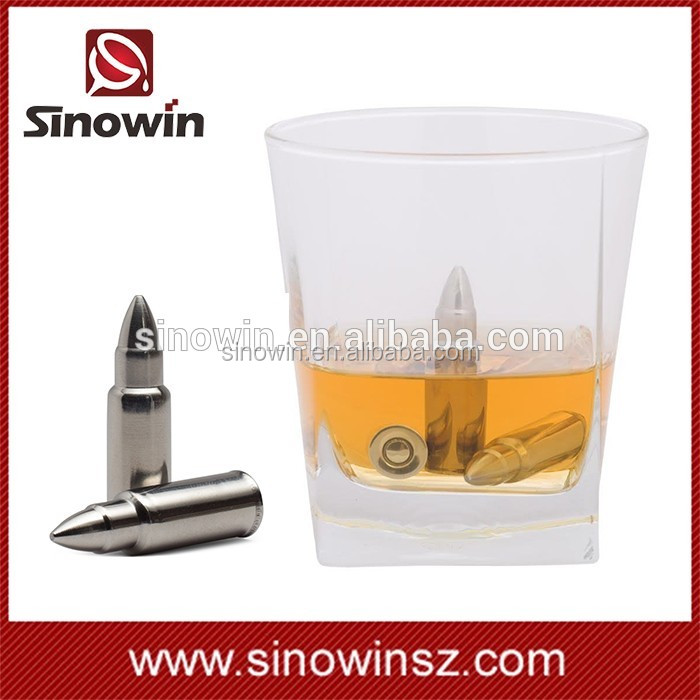 Promotional Cooler bullet ice cubes Cooler Rocks Whiskey Stones with Engraved Logo