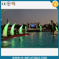 Best design event decoration lighted inflatable ivory No. 002 with color changing led light for outdoor decor