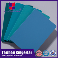 Alucoworld decorative wall paper acp sheet blue interior wall cladding