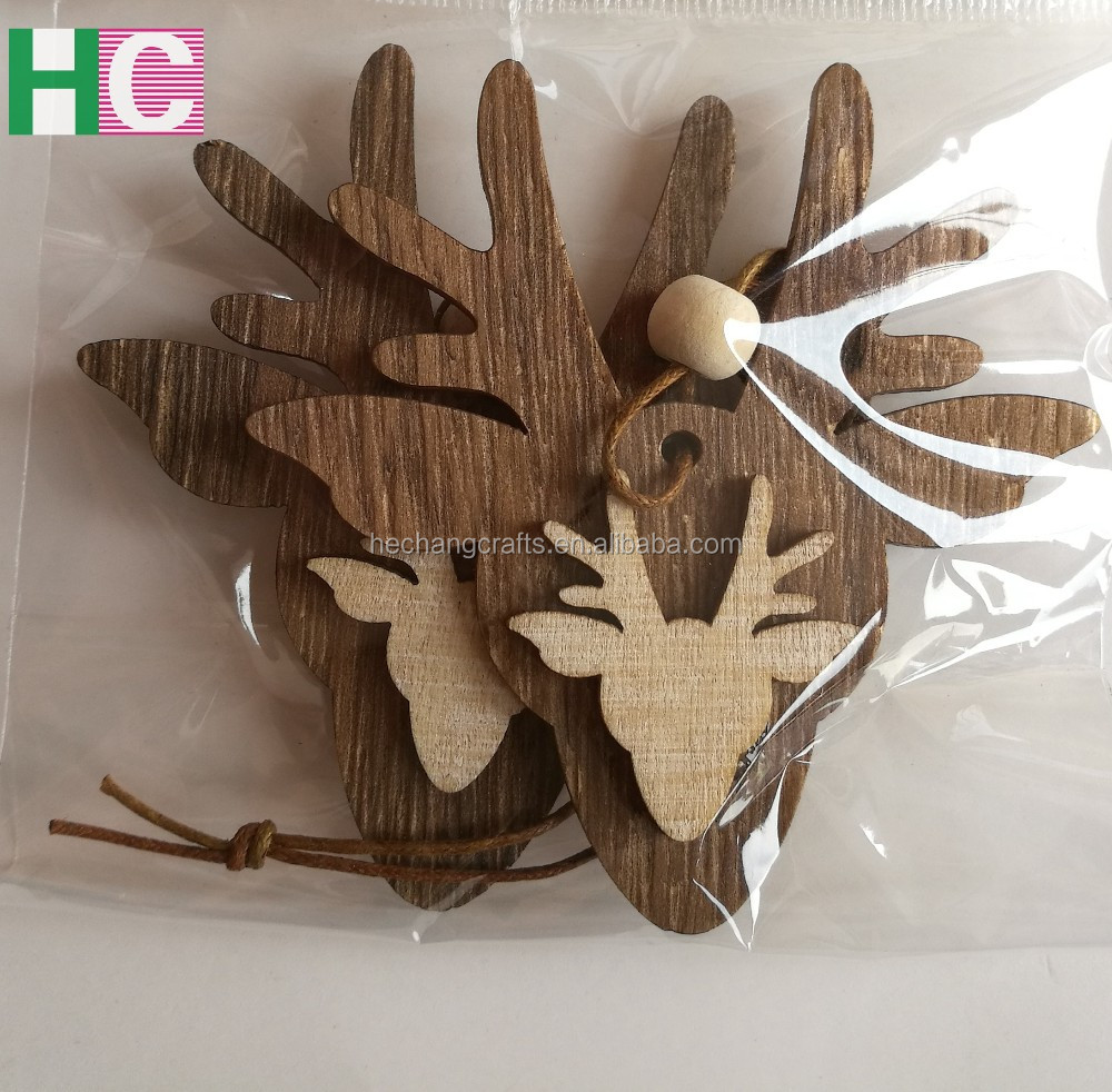 Laser cutting wood christmas reindeer crafts