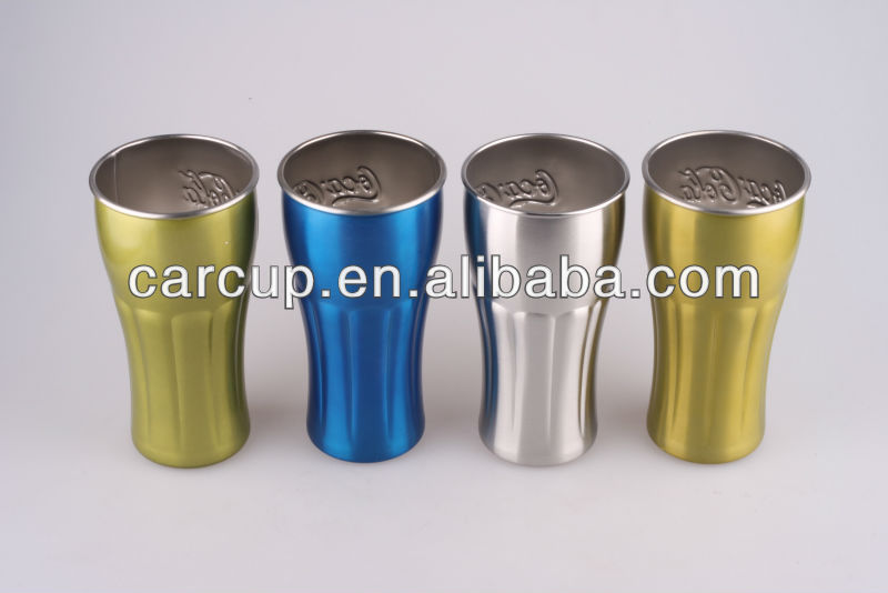 Stainless Steel cup cocola shape