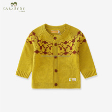 SAMBEDE 1-5T Winter Baby Clothes Baby Girls O-neck Sweater Soft &Warm CardiganSM6D5698