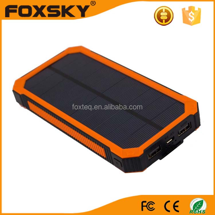 12000mah outdoor waterproof solar mobile power bank charger high capacity portable sun solar power charger