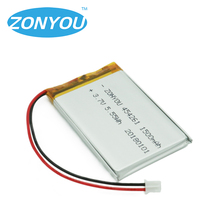 ZONYOU 3.7V 1500mAh 454261 Lithium Polymer Li-Po Rechargeable Battery