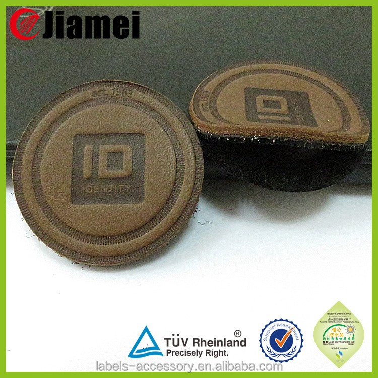 Fashion decorative label embossed leather stickers