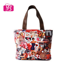 2014 wholesale cheap leather reusable shopping tote bag