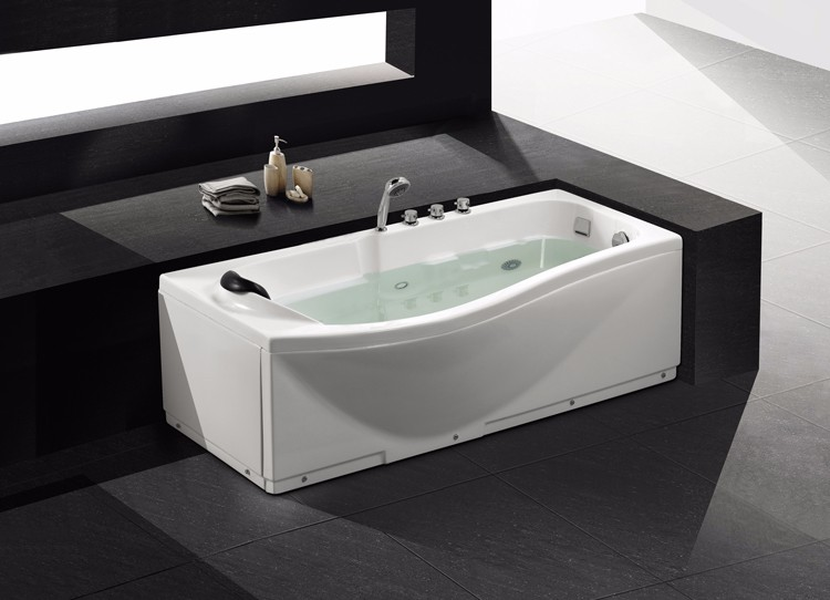 Maleisië eigentijdse badkamer grote plastic draagbare bad met led
