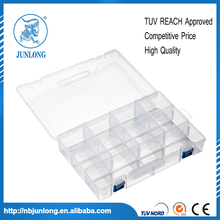 Plastic Rectangle 10 Slots Components Storage Box 5pcs Clear White
