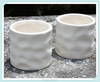 ceramic crumpled surface planter crushed tea cup design