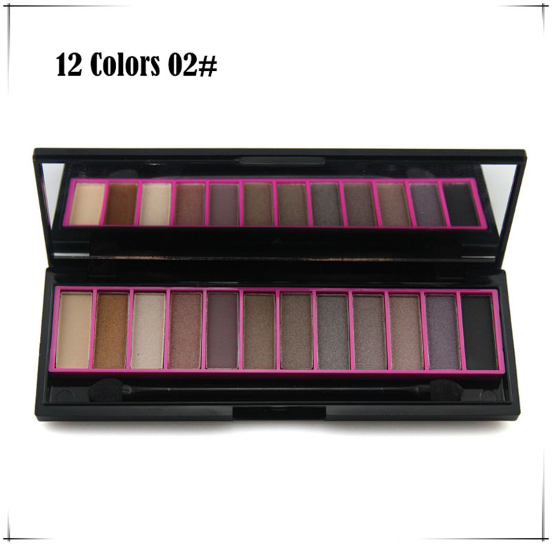 Whoelsale price Professional Original Naras 12 Color Eyeshadow Mineral Eye Shadow Cosmetic makeup palette set 02#