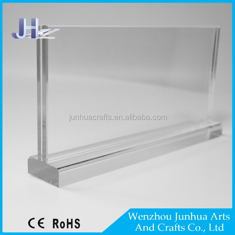 Custom design top glass Table Stand OEM T shape Acrylic Desk Stand L Display