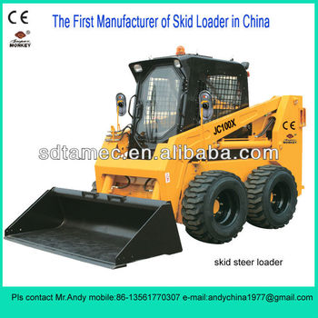 Skid loader,Bobcat,skid steer loader with 100hp Deutz engine,Loading capacity is 1200kg