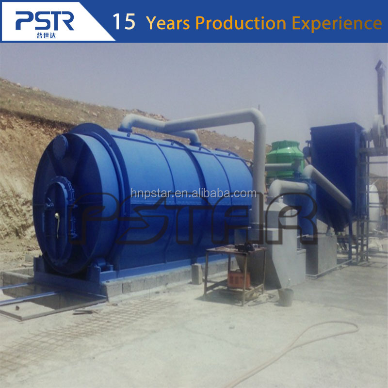 Professional Waste Tyre Plastic pyrolysis machine to oil /waste tyre plastic oil refining