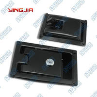 Black coated industrial cabinet point locking paddle lock
