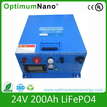 Deep Cycle Lithium Battery 24V 200Ah for Solar System/ UPS/ Electric Car/ Monitoring System