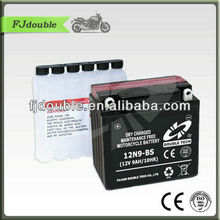low price dry charged lead acid battery 12v 9ah with CE, ISO test