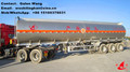 oil Fuel Tank Trailer, Aluminum Alloy Tanker Semi Trailer, 3 axle oil tanker trailer 40 m3