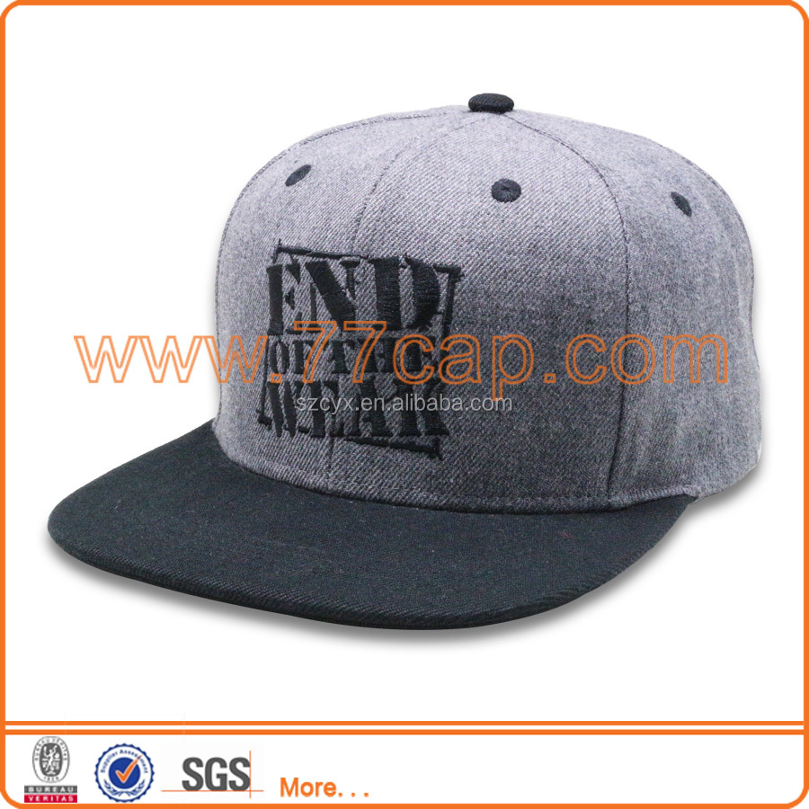 China Factory Custom Hats Flat Bill For Sale