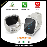 Android GPS+Wi-Fi+LBS silicon gps tracker sos panic button emergency call for kids smart watch
