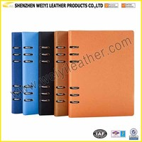 Manufacturer Custom Notebook Leather Loose Leaf Notebook