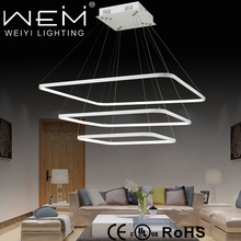 Acrylic White Oval Pendant Hanging LED Suspended Ceiling Light