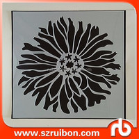 Laser die cutting stencil flower design painting wall stencil