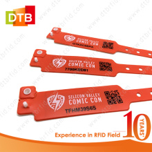 Custom Disposable RFID Soft PVC Festival Wristband