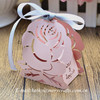 Creative&rustic wedding/party favors, pink arabic wedding favour boxes rose,paper flower rose candy box