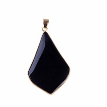 fashion various color glass black stone pendant