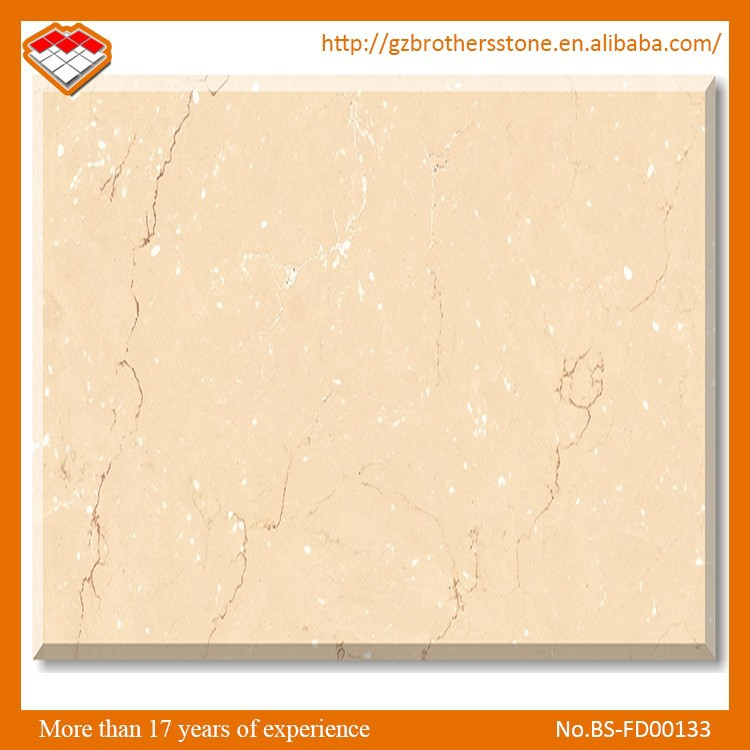 High Quality Star Veins New Botticino Cream Color China Synthetic Marble