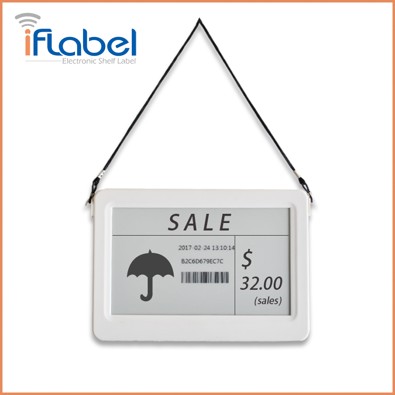 L010 IfLabel 7.5 inch Black&White color Single-side with White Frame e paper price tag