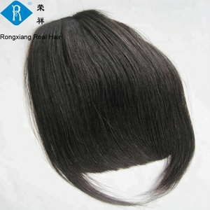 Top quality natural human hair clip on bangs for black women