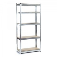5 Tier Shelves Galvanized Metal Garage Storage Shelving