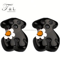 Charming lovely bear jewelry polymer clay earring