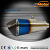 Titanium ER650 CNC End Cap 1000cc motorcycle exhaust muffler pipe with Rainbow Color
