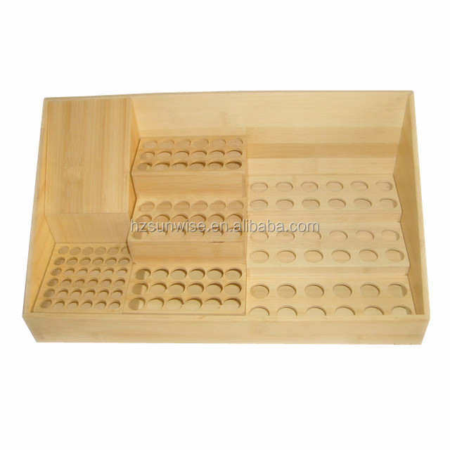 Cheap price cosmetic store small tabletop wooden lip gloss display rack