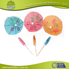 Logo Printed cocktail umbrella parasol in disposable Use