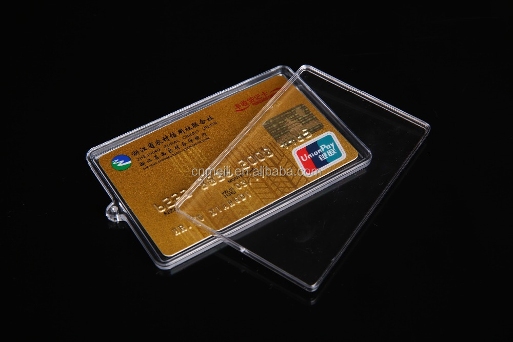 High quality acrylic hard plastic id case