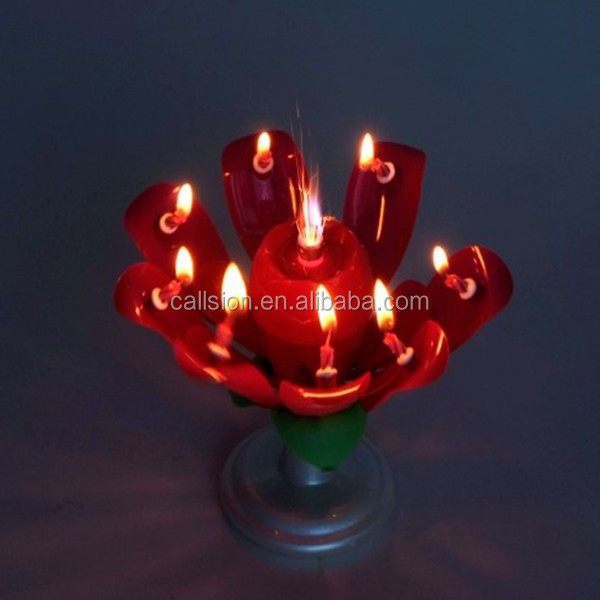 novelty rose flower birthday candles
