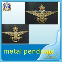 New design wing up gold crown eagle no.33 metal masonic pendant