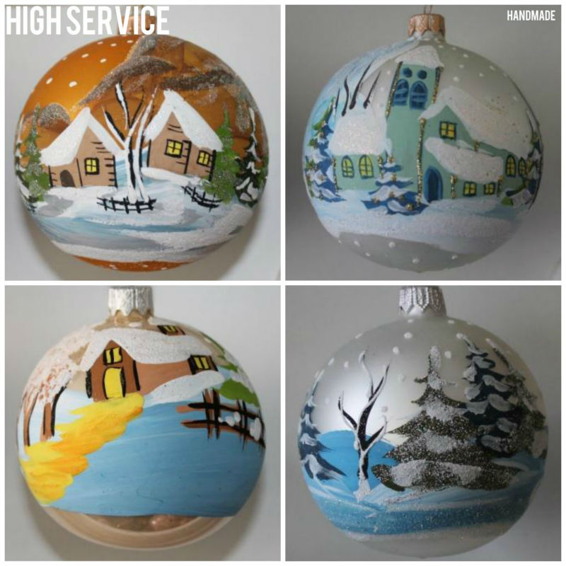 Hand Painted Christmas Ornament.